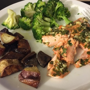 Cilantro Lime Salmon and Veggies